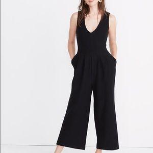 Madewell texture & Thread Wide Leg Crop jumpsuit
